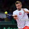 13.09.2013 - Warszawa , Torwar , tenis , Davis Cup Plau Off , Polska (biale) - Australia (zolte)  N/Z Michal Przysiezny  Fot. Mariusz Palczynski / MPAimages.com