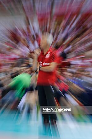22.09.2013 - Gdansk , Ergo Arena , siatkowka , Mistrzostwa Europy w pilke siatkowa , Slowacja (czerwone) - Polska (biale) , 2013 CEV VELUX Volleyball European Championship , Slovakia - Poland  N/Z Andrea Anastasi  Fot. Mariusz Palczynski / MPAimages.com