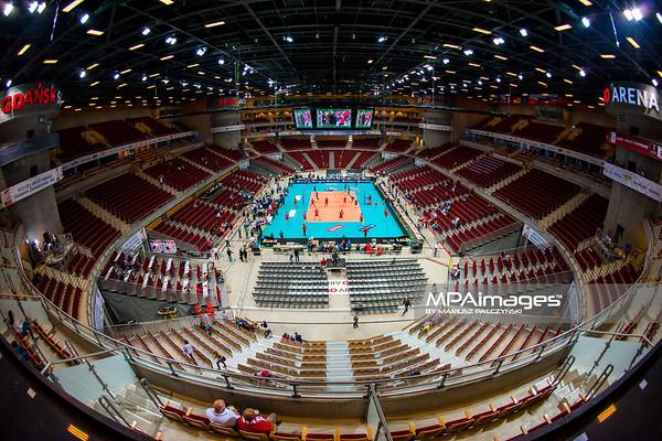 22.09.2013 Gdansk , ERGO Arena , siatkowka , Mistrzostwa Europy , Turcja (czerwone) Francja (niebieskie)  N/Z Ergo Arena Fot. Karol Bartnik / MPAimages.com