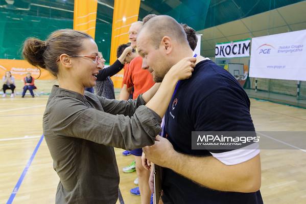26.10.2013 - Belchatow , Hala Sport , siatkowka , PGE Press Ball 2013 , final , Dekoracja  Fot. Mariusz Palczynski / MPAimages.com