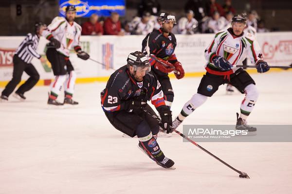 26.11.2013 , Tychy , Stadion Zimowy , hokej , Polska Hokej Liga , GKS Tychy (biale) Ciarko PBS Bank Sanok (czarne)  N/Z Boguslaw Rapala Fot. Karol Bartnik / MPAimages.com