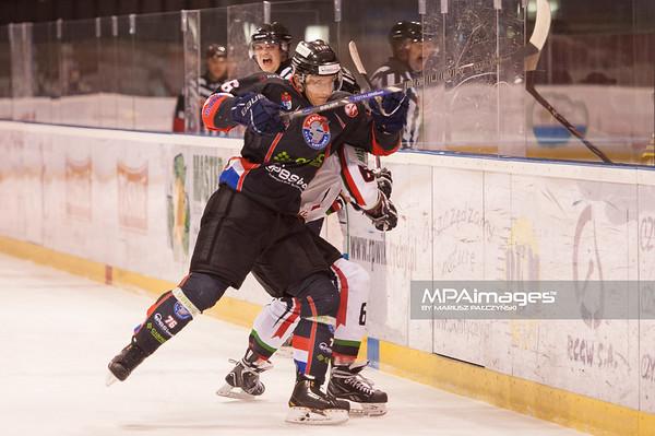 26.11.2013 , Tychy , Stadion Zimowy , hokej , Polska Hokej Liga , GKS Tychy (biale) Ciarko PBS Bank Sanok (czarne)  N/Z Bartlomiej Pociecha Fot. Karol Bartnik / MPAimages.com