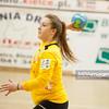 02.02.2014 , Kielce , pilka reczna , II liga kobiet , Korona Handball Kielce (granatowe) ChKS Lodz (zolte)  N/Z Monika Kos Fot. Karol Bartnik / MPAimages.com