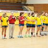 02.02.2014 , Kielce , pilka reczna , II liga kobiet , Korona Handball Kielce (granatowe) ChKS Lodz (zolte)  N/Z ChKS Lodz Fot. Karol Bartnik / MPAimages.com