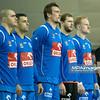 23.02.2014 , Kielce , Hala Legionow , pilka reczna , EHF Champions League , KS Vive Targi Kielce (zolte) Orlen Wisla Plock (niebieskie)  N/Z Wisla Plock Fot. Karol Bartnik / MPAimages.com