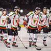 24.03.2014 - Tychy , Stadion Zimowy , hokej , Polska Hokej Liga , GKS Tychy (biale) Ciarko PBS Bank KH Sanok (czarne)  N/Z GKS Tychy Fot. Karol Bartnik / MPAimages.com