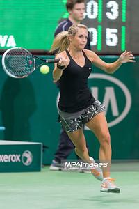 08.04.2014 - Katowice , Spodek ,  BNP Paribas Katowice Open , Magda Linette (POL) - Klara Koukalova (CZE)  N/Z Klara Koukalova  Fot. Mariusz Palczynski / MPAimages.com