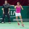 08.04.2014 - Katowice , Spodek ,  BNP Paribas Katowice Open , Vera Dushevina (RUS) - Francesca Schiavone (ITA)  N/Z Francesca Schiavone  Fot. Mariusz Palczynski / MPAimages.com