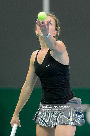 09.04.2014 - Katowice , Spodek ,  BNP Paribas Katowice Open , Annika Beck (GER) - Klara Koukalova (CZE)  N/Z Annika Beck  Fot. Mariusz Palczynski / MPAimages.com