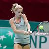 09.04.2014 - Katowice , Spodek ,  BNP Paribas Katowice Open , Camila Giorgi (ITA) - Roberta Vinci (ITA)  N/Z Camila Giorgi  Fot. Mariusz Palczynski / MPAimages.com