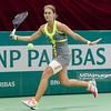 09.04.2014 - Katowice , Spodek ,  BNP Paribas Katowice Open , Mirijana Lucic Baroni (CRO) - Jovana Jaksic (SRB)  N/Z Jovana Jaksic  Fot. Mariusz Palczynski / MPAimages.com