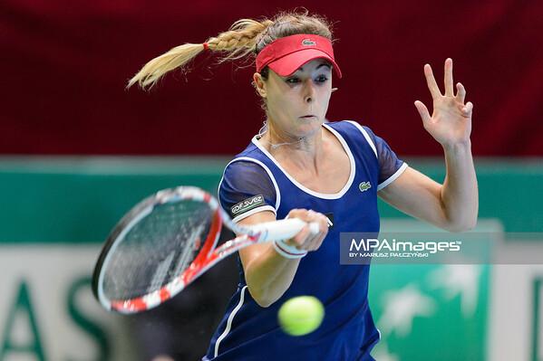 10.04.2014 - Katowice , Spodek ,  BNP Paribas Katowice Open , Alize Cornet (FRA) - Kristina Kucova (SVK)  N/Z Alize Cornet  Fot. Mariusz Palczynski / MPAimages.com