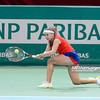 10.04.2014 - Katowice , Spodek ,  BNP Paribas Katowice Open , Alize Cornet (FRA) - Kristina Kucova (SVK)  N/Z Kristina Kucova  Fot. Mariusz Palczynski / MPAimages.com