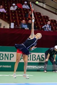 10.04.2014 - Katowice , Spodek ,  BNP Paribas Katowice Open , Mirjana Lucic Baroni (CRO) - Yvonne Meusburger (AUT)  N/Z Mirjana Lucic Baroni  Fot. Mariusz Palczynski / MPAimages.com