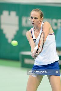 11.04.2014 - Katowice , Spodek ,  BNP Paribas Katowice Open , Magdalena Rybarikova (SVK) - Carla Suarez Navaroo (ESP)  N/Z Magdalena Rybarikova  Fot. Mariusz Palczynski / MPAimages.com