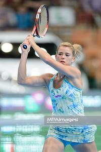 11.04.2014 - Katowice , Spodek ,  BNP Paribas Katowice Open , Shahar Peer (ISR) - Camila Giorgi (ITA)  N/Z Camila Giorgi  Fot. Mariusz Palczynski / MPAimages.com