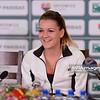 12.04.2014 - Katowice , Spodek ,  BNP Paribas Katowice Open , Konferencja prasowa  N/Z Agnieszka Radwanska  Fot. Mariusz Palczynski / MPAimages.com