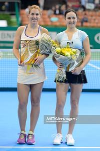 13.04.2014 - Katowice , Spodek ,  BNP Paribas Katowice Open , Dekoracja Debel  N/Z  Fot. Mariusz Palczynski / MPAimages.com