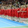 13.04.2014 - Katowice , Spodek ,  BNP Paribas Katowice Open , Dekoracja Singiel  N/Z Ballboys ballkids Fot. Mariusz Palczynski / MPAimages.com