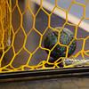 17.05.2014 , Kielce , Hala Legionow , pilka reczna , PGNiG Superliga ,Vive Targi Kielce (zolte) Orlen Wisla Plock (niebieskie)  N/Z Pilka w bramce Fot. Karol Bartnik / MPAimages.com