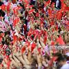 20.06.2014 - Krakow , Krakow Arena , siatkowka , Liga Swiatowa 2014 , Polska (biale) - Brazylia (zolte) , FIVB World League 2014 Poland - Brazil  N/Z Kibice  Fot. Mariusz Palczynski / MPAimages.com