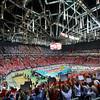 20.06.2014 - Krakow , Krakow Arena , siatkowka , Liga Swiatowa 2014 , Polska (biale) - Brazylia (zolte) , FIVB World League 2014 Poland - Brazil  N/Z Krakow Arena  Fot. Mariusz Palczynski / MPAimages.com