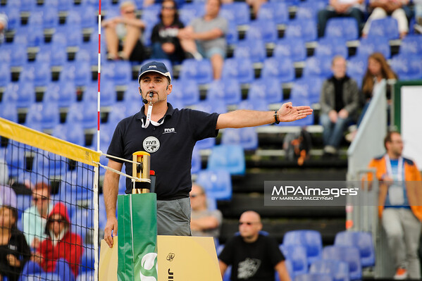 19.08.2014 - Stare Jablonki , siatkowka plazowa , beach volleyball , World Tour , FIVB Stare Jablonki Grand Slam 2014 , Niemcy (niebieskie-niebieskie) - Norwegia (niebieskie-rozowe) , Germany (blue-blue) - Norway (blue-pink) N/Z Christian Nogara Fot. Karol Bartnik / MPAimages.com
