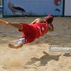 22.08.2014 - Stare Jablonki , siatkowka plazowa , beach volleyball , World Tour , FIVB Stare Jablonki Grand Slam 2014 , Hiszpania (biale) - Rosja (czerwone) , Spain (white) - Russia (red) N/Z Konstantin Semenov Fot. Karol Bartnik / MPAimages.com