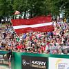 23.08.2014 - Stare Jablonki , siatkowka plazowa , beach volleyball , World Tour , FIVB Stare Jablonki Grand Slam 2014 , Polska (czerwone) - Lotwa (zielone) , Poland (red) - Latvia (green) N/Z  Fot. Karol Bartnik / MPAimages.com