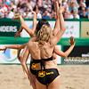 23.08.2014 - Stare Jablonki , siatkowka plazowa , beach volleyball , World Tour , FIVB Stare Jablonki Grand Slam 2014 , Polska (zielone) - Szwajcaria (zolte) , Poland (green) - Switzerland (yellow) N/Z Cheerleaders Flex Sopot Fot. Karol Bartnik / MPAimages.com