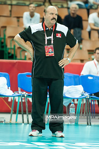01.09.2014 - Katowice , Spodek , siatkowka , Mistrzostwa Swiata 2014 , grupa B Korea (czerwone) - Tunezja (biale) , FIVB Men's World Championship , pool B Korea (red) - Tunisia (white) N/Z Fethi Mkaouar Fot. Karol Bartnik / MPAimages.com