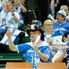 05.09.2014 - Katowice , Spodek , siatkowka , Mistrzostwa Swiata 2014 , grupa B Brazylia (zolte) - Finlandia (niebieskie) , FIVB Men's World Championship , pool B Brazil (yellow) - Finland (blue) N/Z Kibice Finlandii Fot. Karol Bartnik / MPAimages.com