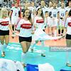07.09.2014 - Katowice , Spodek , siatkowka , Mistrzostwa Swiata 2014 , grupa B Tunezja (czerwone) - Finlandia (biale) , FIVB Men's World Championship , pool B Tunisia (red) - Finland (white) N/Z Cheerleaders Ergo Slask Fot. Karol Bartnik / MPAimages.com