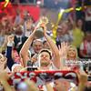 21.09.2014 - Katowice , Spodek , siatkowka , Mistrzostwa Swiata 2014 , dekoracja , FIVB Men's World Championship , decoration N/Z Michal Winiarski Fot. Karol Bartnik / MPAimages.com