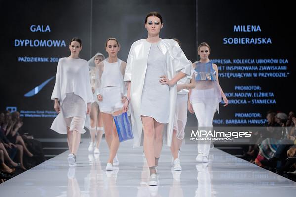 22.10.2014 - Lodz , Hala ASP , Fashionphilosophy Fashion Week Poland 2014 , 11 edycja , Gala dyplomowa Akademii Sztuk Pieknych  N/Z Milena Sobierajska  Fot. Mariusz Palczynski / MPAimages.com