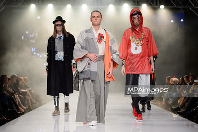22.10.2014 - Lodz , Hala ASP , Fashionphilosophy Fashion Week Poland 2014 , 11 edycja , Gala dyplomowa Akademii Sztuk Pieknych  N/Z Kaminska Azja  Fot. Mariusz Palczynski / MPAimages.com