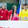 28.12.2014 - Katowice , Spodek , pilka reczna , Christmas Cup , Czechy (czerwone) - Wegry (biale)  N/Z Cheerleaders Ergo Slask , Czechy Fot. Karol Bartnik / MPAimages.com