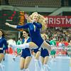 30.12.2014 - Katowice , Spodek , pilka reczna , Christmas Cup , Polska (biale) - Wegry (zielone)  N/Z Cheerleaders Ergo Slask Fot. Karol Bartnik / MPAimages.com