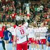 30.12.2014 - Katowice , Spodek , pilka reczna , Christmas Cup , Polska (biale) - Wegry (zielone)  N/Z Bartosz Jurecki Fot. Karol Bartnik / MPAimages.com