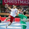 30.12.2014 - Katowice , Spodek , pilka reczna , Christmas Cup , Polska (biale) - Wegry (zielone)  N/Z Michal Jurecki Fot. Karol Bartnik / MPAimages.com