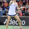 07.02.2015 - Krakow , Krakow Arena , Fed Cup by BNP Paribas , Polska – Rosja , Poland - Russia  N/Z Urszula Radwanska  Fot. Mariusz Palczynski / MPAimages.com