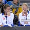 08.02.2015 - Krakow , Krakow Arena , Fed Cup by BNP Paribas , Polska – Rosja , Poland - Russia  N/Z Agnieszka Radwanska , Urszula Radwanska  Fot. Mariusz Palczynski / MPAimages.com