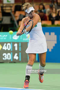 07.04.2015 - Katowice , Spodek , Katowice Open , Magdalena Frech (POL) - An-Sophie Mestach (BEL)  N/Z An-Sophie Mestach  Fot. Mariusz Palczynski / MPAimages.com