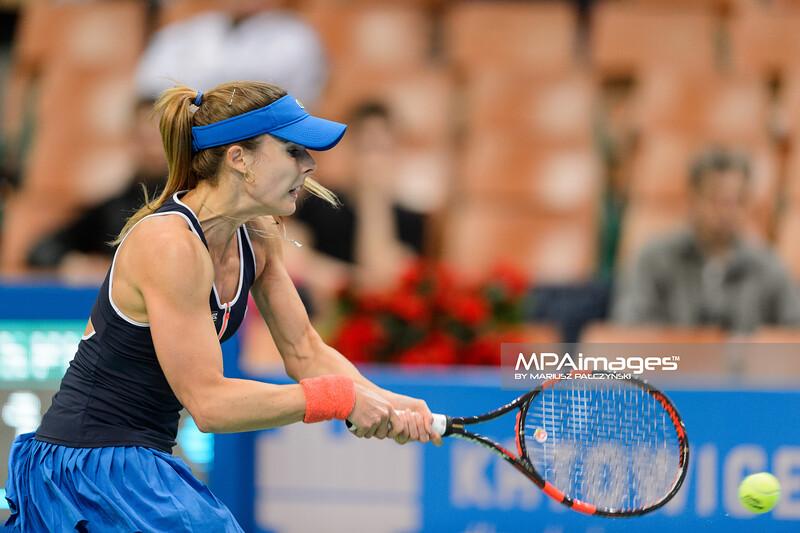 08.04.2015 - Katowice , Spodek , Katowice Open , Polona Hercog (SLO) - Alize Cornet (FRA)  N/Z Alize Cornet  Fot. Mariusz Palczynski / MPAimages.com