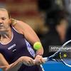 09.04.2015 - Katowice , Spodek , Katowice Open , Elizaveta Kulichkova (RUS) - Kaia Kanepi (EST)  N/Z Kaia Kanepi  Fot. Mariusz Palczynski / MPAimages.com