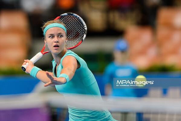 09.04.2015 - Katowice , Spodek , Katowice Open , Anna Schmiedlova (SVK) - Katerina Siniakova (CZE)  N/Z Anna Schmiedlova  Fot. Mariusz Palczynski / MPAimages.com