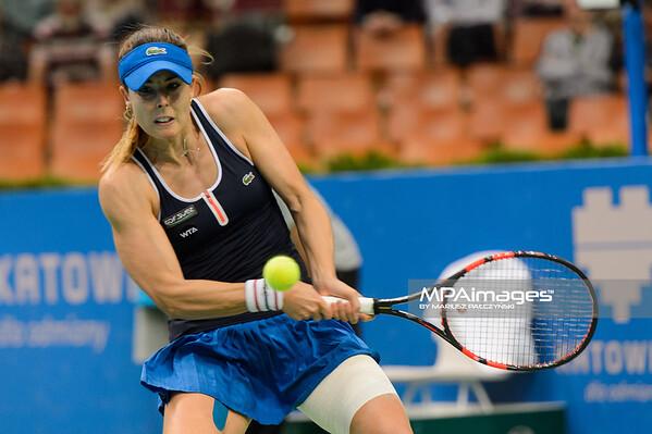10.04.2015 - Katowice , Spodek , Katowice Open , Anna Schmiedlova (SVK) - Alize Cornet (FRA)  N/Z Alize Cornet  Fot. Mariusz Palczynski / MPAimages.com