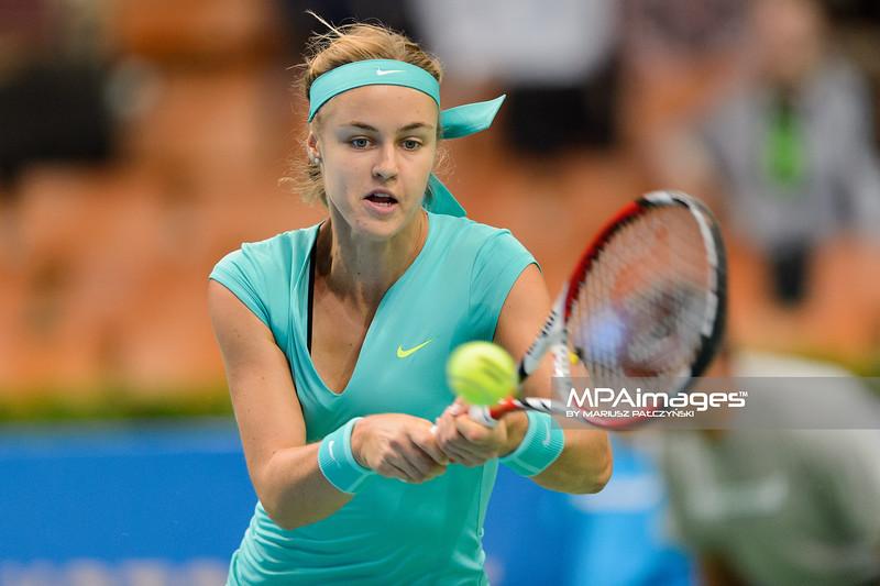 10.04.2015 - Katowice , Spodek , Katowice Open , Anna Schmiedlova (SVK) - Alize Cornet (FRA)  N/Z Anna Schmiedlova  Fot. Mariusz Palczynski / MPAimages.com