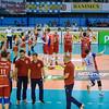 11.04.2015 - Sosnowiec , Hala MOSiR , siatkowka , Plus Liga , MKS Banimex Bedzin (pomaranczowe) - Effector Kielce (czerwone)  N/Z Effector Kielce Fot. Karol Bartnik / MPAimages.com