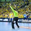 19.04.2015 - Kielce , Hala Legionow , pilka reczna , EHF Champions League , Vive Tauron Kielce (zolte) - HC Vadar (czarno-czerwone) N/Z Slawomir Szmal Fot. Karol Bartnik / MPAimages.com